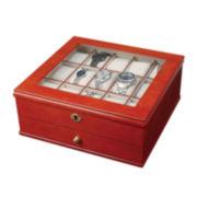 Mele & Co. Chris Mens Walnut-Finish Watch Box
