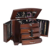 Mele & Co. Atria Mahogany-Finish Jewelry Box
