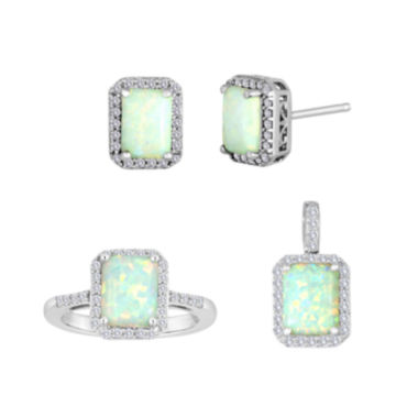 jcpenney.com | Lab-Created Opal and White Sapphire Sterling Silver Jewelry