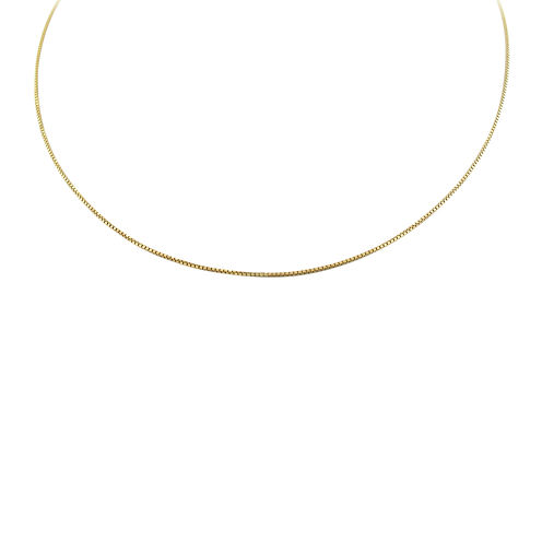 """Made in Italy 14K Gold Over Silver 16"""" Box Chain Necklace"""