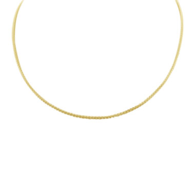 "jcpenney.com | 14K Gold Over Silver 18"" Wheat Chain Necklace"