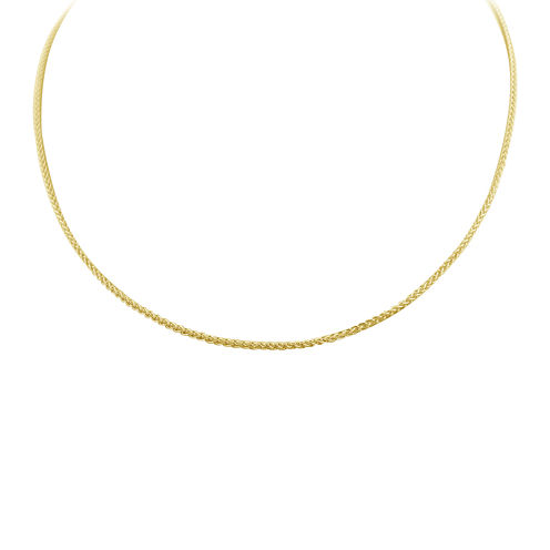 """Made in Italy 14K Gold Over Silver 24"""" Wheat Chain Necklace"""