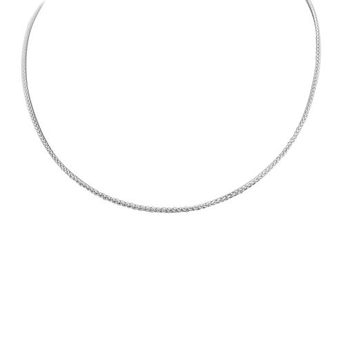 """Made in Italy Sterling Silver 22"""" Wheat Chain Necklace"""