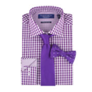 Graham & Co. Dress Shirt, Tie and Pre-Tied Bow Tie Set