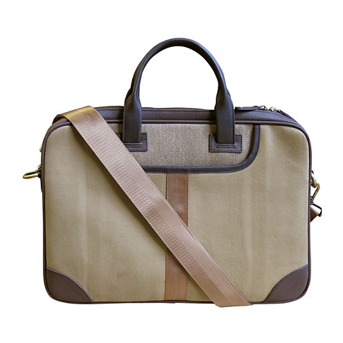 Canvas Twill Slim Laptop Bag