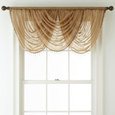 jcpenney.com | Royal Velvet® Crushed Voile Rod-Pocket Waterfall Valance