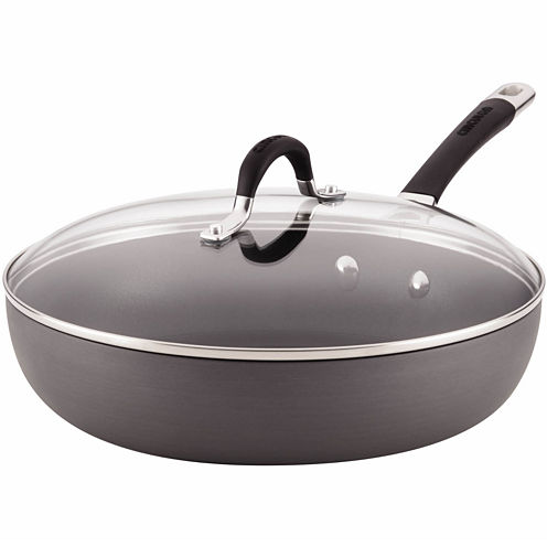 "Circulon® Momentum 12"" Deep Skillet with Lid"
