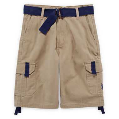 jcpenney.com | U.S. Polo Assn.® Belted Cargo Shorts - Boys 8-18