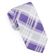 JF J. Ferrar® Heathered Plaid Tie - Slim