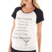 Maternity Martini Knit Short-Sleeve Tee