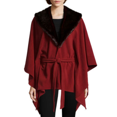 jcpenney.com | Mixit™ Fleece Ruana with Faux Fur Collar