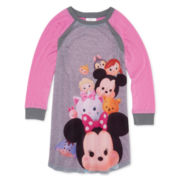 Tsum Tsum Long-Sleeve Dorm Pajama Shirt - Girls