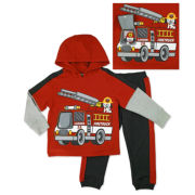 Novelty 2-pc. Red Long-Sleeve Pullover and Pants Set - Toddler Boys 2t-4t