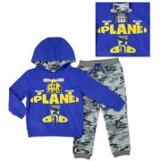 Novelty 2-pc. Blue Long-Sleeve Pullover and Pants Set - Toddler Boys 2t-4t