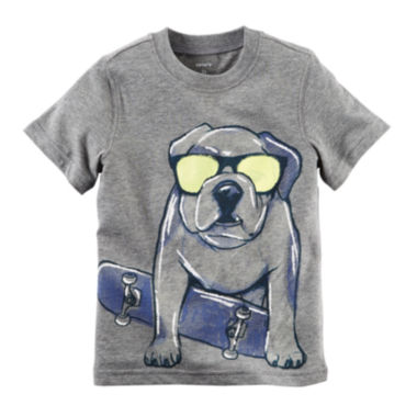 jcpenney.com | Carter's® Short-Sleeve Gray Dog Knit Cotton Tee - Boys 4-8