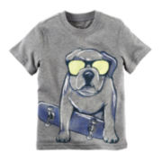 Carter's® Short-Sleeve Gray Dog Knit Cotton Tee - Boys 4-8