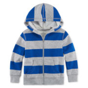 Okie Dokie® Printed Fleece Jacket - Toddler Boys 2T-5T