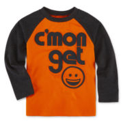 Okie Dokie® Long-Sleeve Attitude Raglan Tee - Toddler Boys 2t-5t