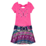 Lilt Short-Sleeve Butterfly Marsha Dress - Preschool Girls 4-6x