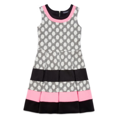 jcpenney.com | Trixxi® Sleeveless Polka Dot Striped Skater Dress - Girls 7-16
