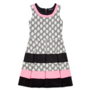 Trixxi® Sleeveless Polka Dot Striped Skater Dress - Girls 7-16