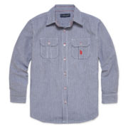 U.S. Polo Assn.® Long-Sleeve Woven Shirt - Boys 8-20