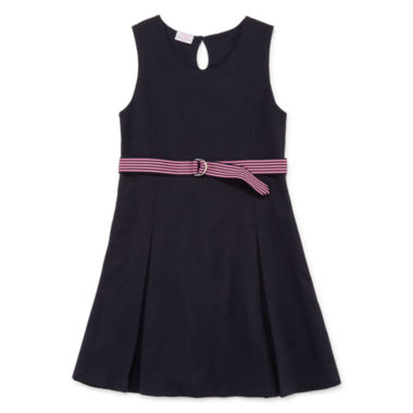 jcpenney.com | IZOD® Sleeveless Belted Knit Dress - Girls 7-16 and Plus