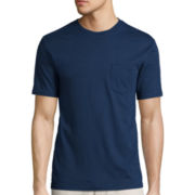 St. John's Bay® Short-Sleeve Slim-Fit Legacy Basic Pocket Tee