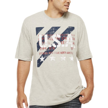 jcpenney.com | Lee® Short-Sleeve USA Stripe Cotton Tee