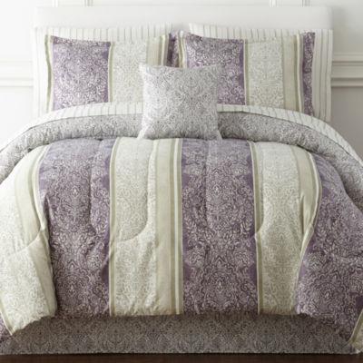 Home Expressions Nadine Reversible Comforter Amp Sheet Set