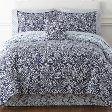 jcpenney.com | Home Expressions™ Montage Reversible Complete Bedding Set with Sheets