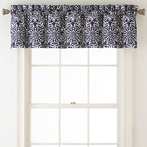 Home Expressions™ Montage Rod-Pocket/Back-Tab Lined Valance