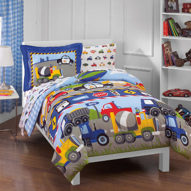 jcpenney.com | Dream Factory Trains & Trucks 5-pc. Twin Comforter Set