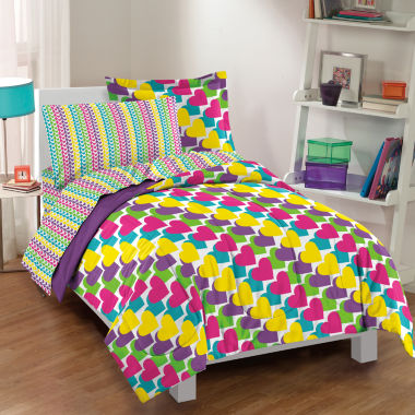 jcpenney.com | Dream Factory Rainbow Hearts Comforter Set