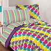 Dream Factory Rainbow Hearts Comforter Set
