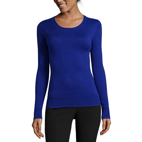 Worthington® Essential Long-Sleeve Pullover Sweater - Petite