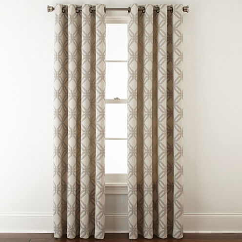 JCPenney Home™ Teagan Grommet-Top Curtain Panel - JCPenney