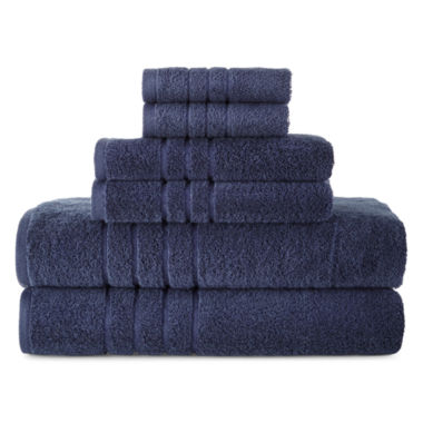 jcpenney.com | JCPenney Home™ Made in USA Supima Cotton 6-pc. Bath Towel Set