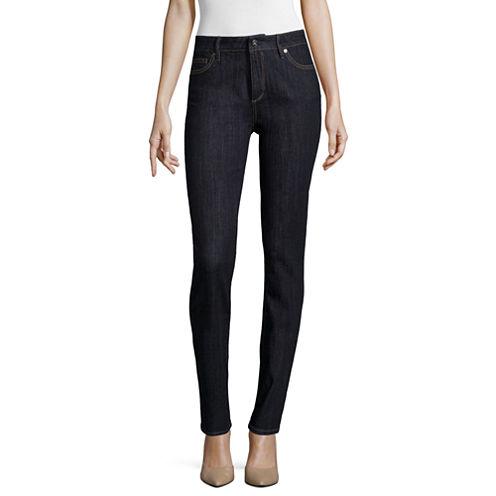 Liz Claiborne® Classic Fit Straight Jeans - Petite