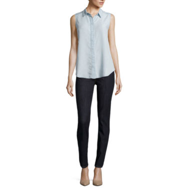 jcpenney.com | Liz Claiborne® Sleeveless Button-Front Blouse or Classic Fit Straight Jeans