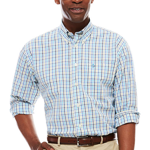 Biscayne Bay Long-Sleeve Plaid Button-Down Shirt
