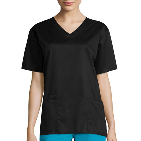 WonderWink® Womens Short-Sleeve V-Neck Top