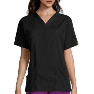 jcpenney.com | WonderWink® Womens Bravo Short-Sleeve 5-Pocket V-Neck Top