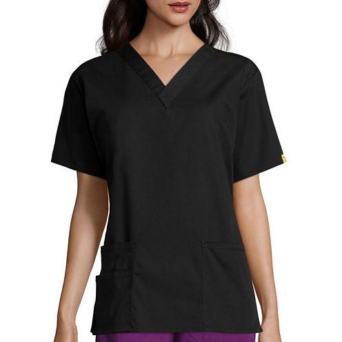 WonderWink® Womens Bravo Short-Sleeve 5-Pocket V-Neck Top - Plus