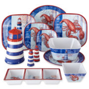 Lobster Melamine Dinnerware Collection