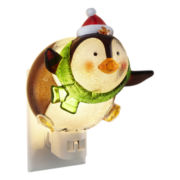 Holiday Penguin Wobble Head Nightlight