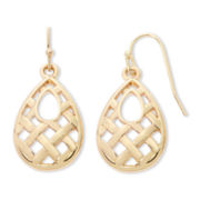 Liz Claiborne® Gold-Tone Teardrop Earrings