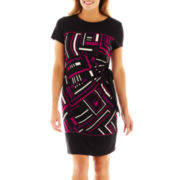 R&K Originals® Short-Sleeve Print Side-Tie Dress