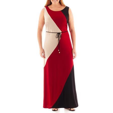 Studio 1 Sleeveless Colorblock Maxi Dress - Plus