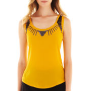 Worthington® Sequin-Trim Tank Top - Tall
